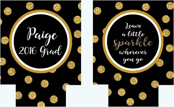 Gold Glitter Polka Dot Party Huggers