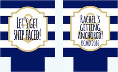 Anchor Navy Stripe Nautical Party Hugger