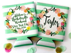 Floral Wreath Mint Stripe Party Huggers