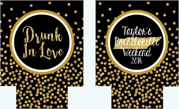 Black and Gold Tennessee Polka Dot Huggers