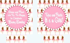 Ballet Baby Shower Party Coozies