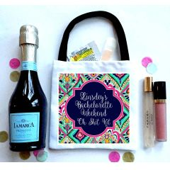 Crown Jewel Wedding Favor Totes, Hangover recovery Bag. Oh Shit kits!