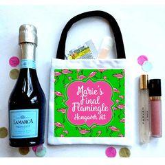 Flamingo Party Favor Bags, Hangover recovery Bag. Flamingle Oh Shit kits!