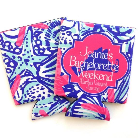She Sells Party Nantucket or Martha's Vineyard Lilly Coozies