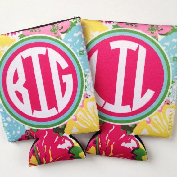 Lilly Big Little Sorority Coozies