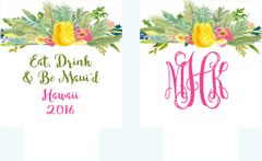 Pineapple Floral Party Huggers