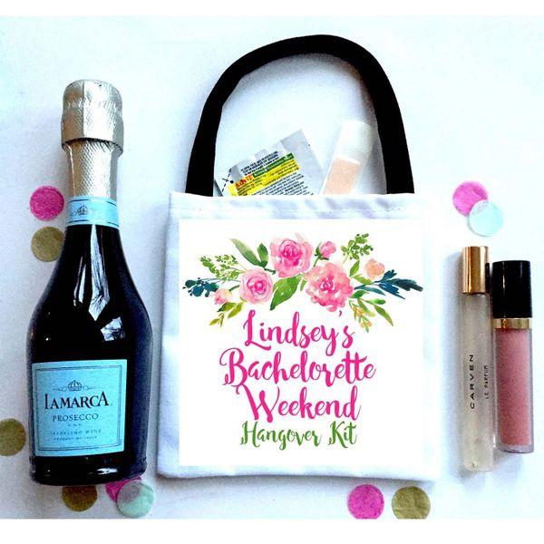 Watercolor Floral Favor Bags