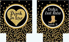 "Black and Gold Polka Dot ""Glitter"" Boot Huggers"