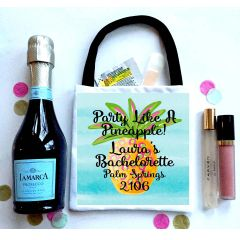 Ombre Pineapple Favor Totes, Hangover recovery Bag. Pineapple Oh Shit kits!
