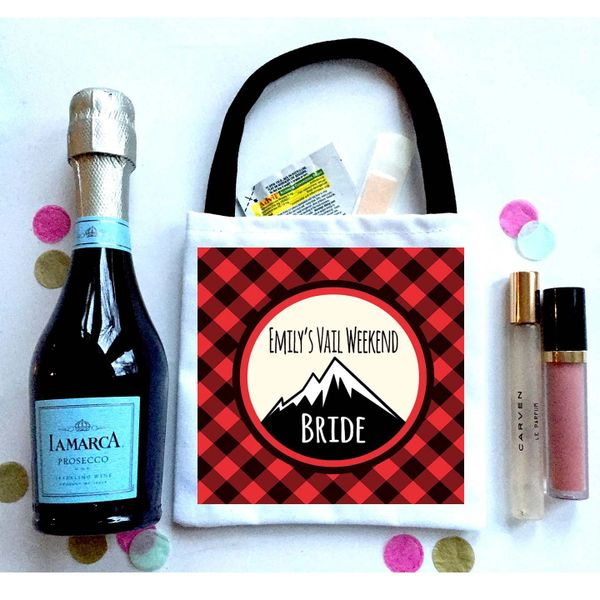 Mountain Favor Totes, Hangover recovery Bag. Boho Oh Shit kits!