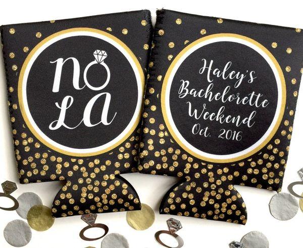 NOLA Ring Black and Gold Polka Dot Glitter Huggers