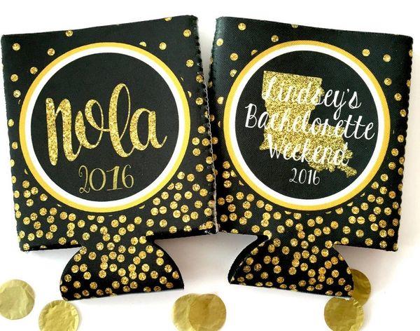NOLA Black and Gold Polka Dot Glitter Huggers