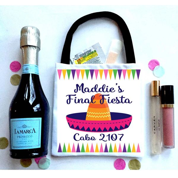 Fiesta Favor Totes, Hangover recovery Bag. Final Fiesta Oh Shit kits!