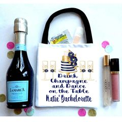 Champagne Favor Bag, Hangover recovery Bag.Glamorous Oh Shit kits!
