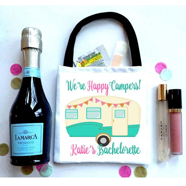 Camping Party Bag, Bachelorette Hangover Bag. Glamping Oh Shit kits!
