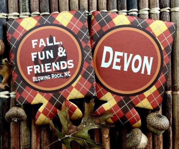 Fall Argyle Party Coozies