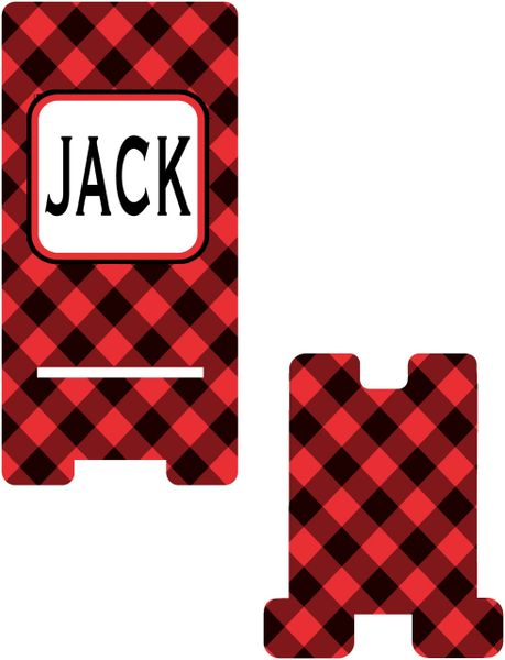 Buffalo Plaid Cell Phone Stand