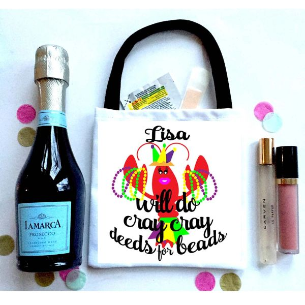 Crayfish Party Favor Totes, Hangover recovery Bag. New Orleans Oh Shit kits!