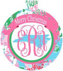 North Carolina Lilly Monogrammed Ornament