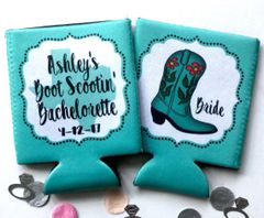 Teal Boot Western Party Huggers