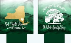 Green Watercolor State Wedding Huggers