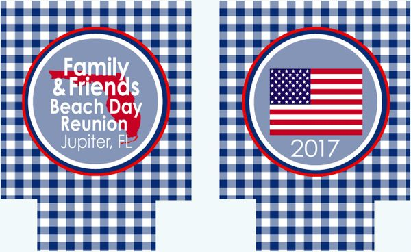 Gingham Flag Party Huggers