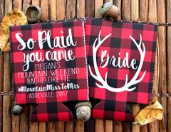 Buffalo Plaid Antler Party Huggers