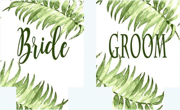 Bride/Groom Palm Party Huggers