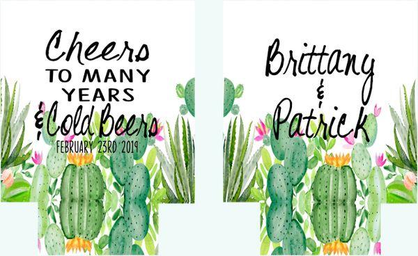 Cactus Wedding Party Huggers