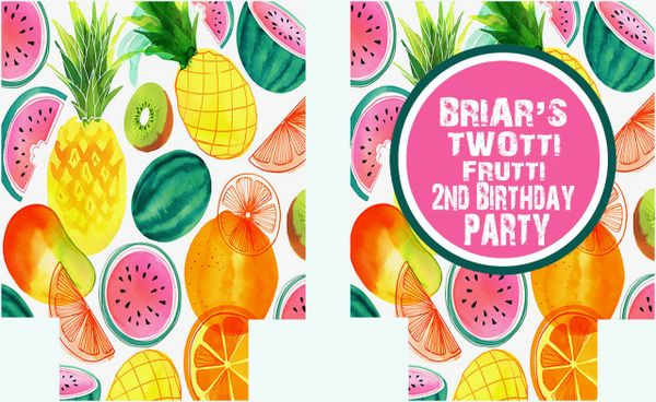 Fruit Watercolor Party Huggers