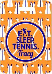Tennis Dresses Monogrammed Bag Tag