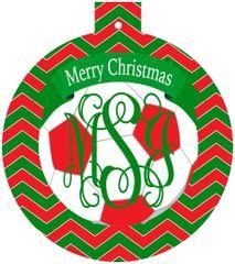 Soccer Christmas Monogrammed Ornament