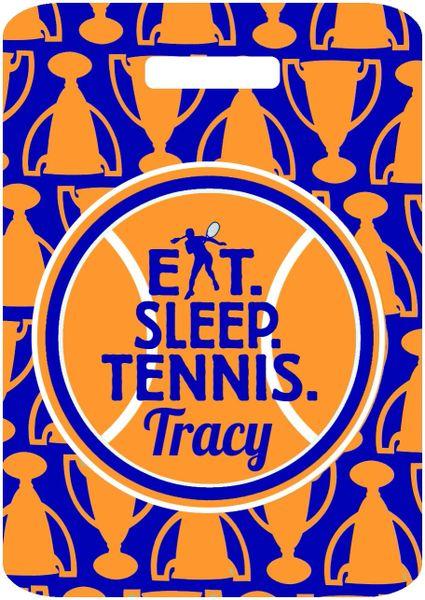 Tennis Trophies Monogrammed Bag Tag
