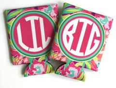 Lulu Big Little Sorority Coozies