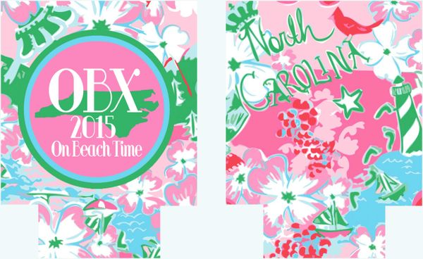 North Carolina Lilly Party Coozies