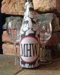 Wine or Beer Bomber Buck Monogrammed Coozie