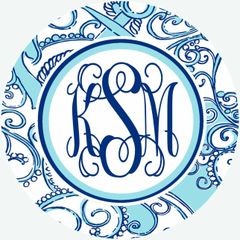Anchor Monogrammed Luggage Tag