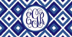 Navy Ikat License Plate