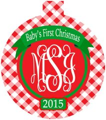 Baby's First Christmas Monogrammed Ornament
