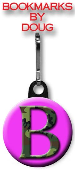 Personalized Initial Zipper Pull/Bag Tag