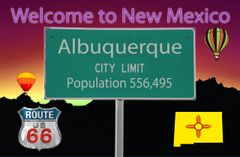 Route 66 City/State Population Fridge Magnet with current population and state flag #NMMG7141