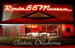 Route 66 fridge magnet featuring Route 66 Museum Clinton, OK #OKMG7715