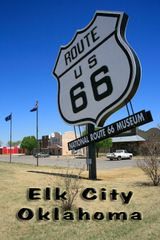 Route 66 fridge magnet featuring Route 66 Museum in Elk City, OK