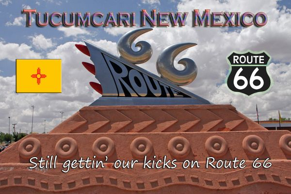 Route 66 fridge magnet featuring Tucumcari, NM