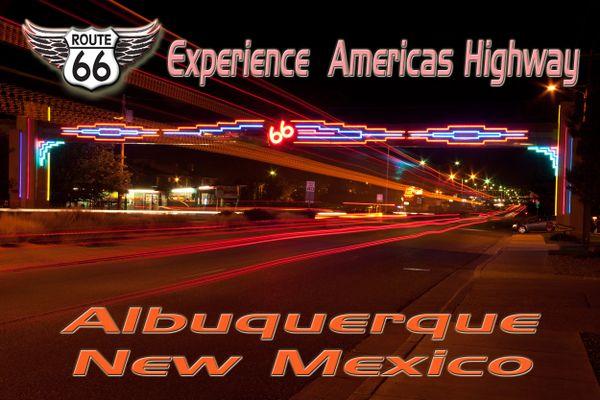 Route 66 fridge magnet featuring Albuquerque, NM
