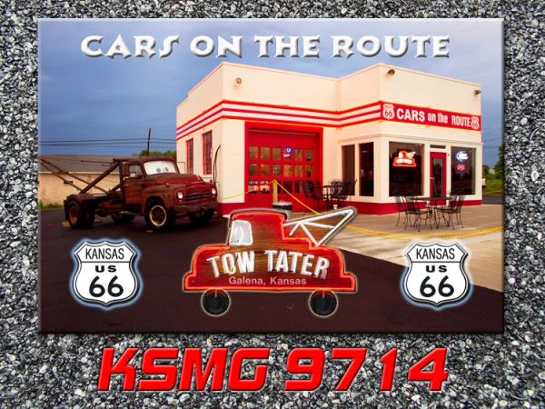 Route 66 fridge magnet featuring Cars on the Route Galena, KS #KSMG9714