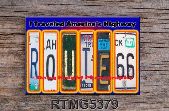 Route 66 fridge magnet #RTMG5379