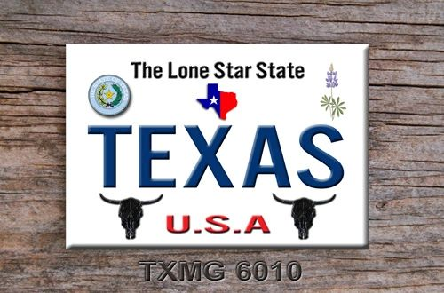 Texas Lone Star State Fridge Magnet #TXMG6010