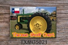 Texas Fridge Magnet Texas Golf Cart