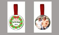 Personalized Christmas Tree Ornament Double Sided with Image and Graphics